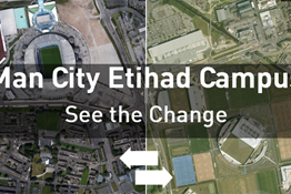Before & After. Man City Etihad Campus Development.